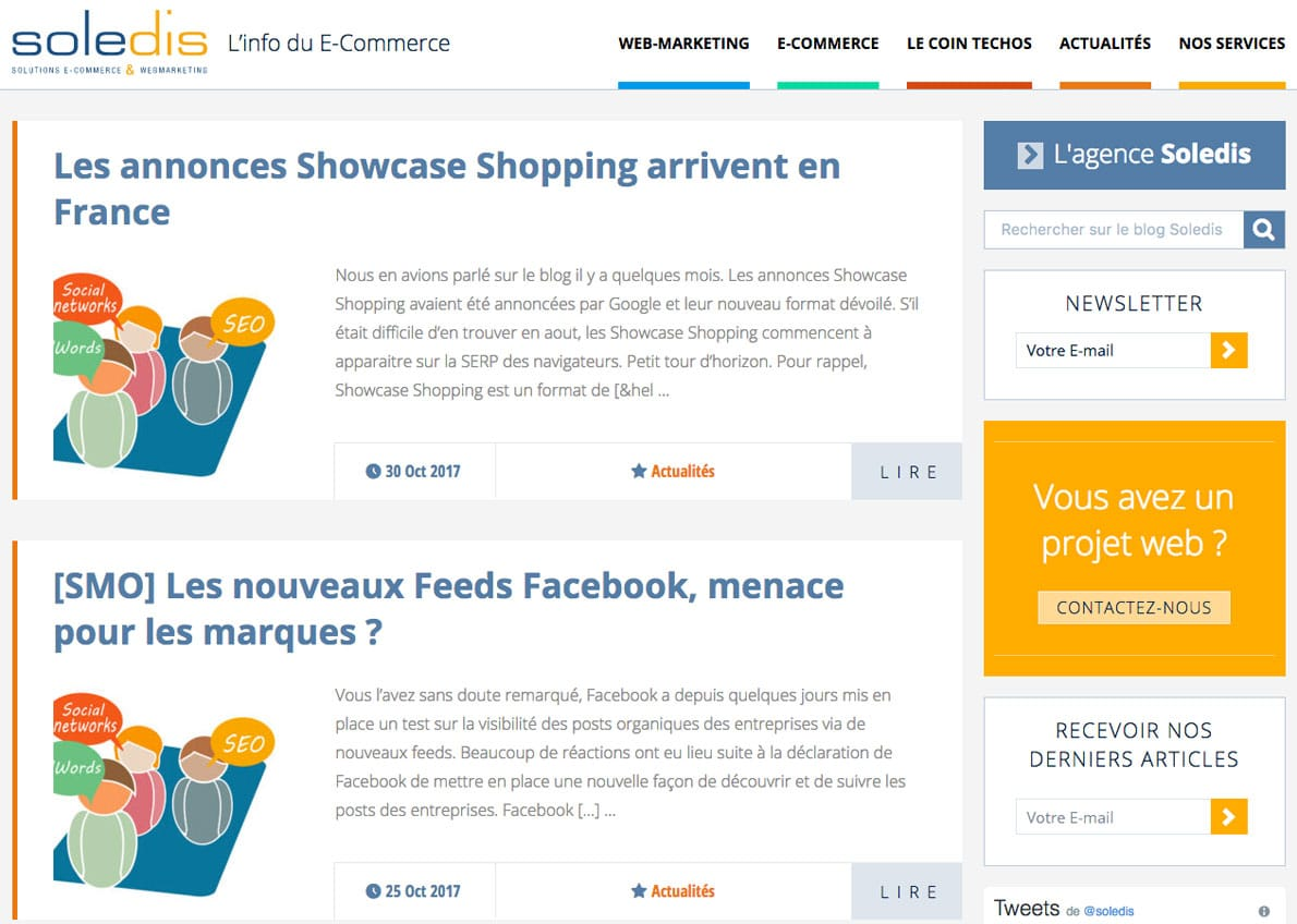 exemple de création de site web wordpress blog-soledis