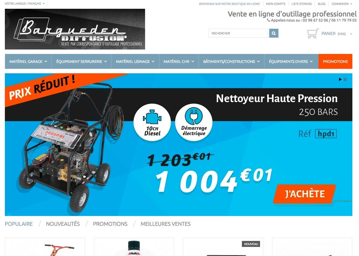 exemple de création de site web prestashop bargueden