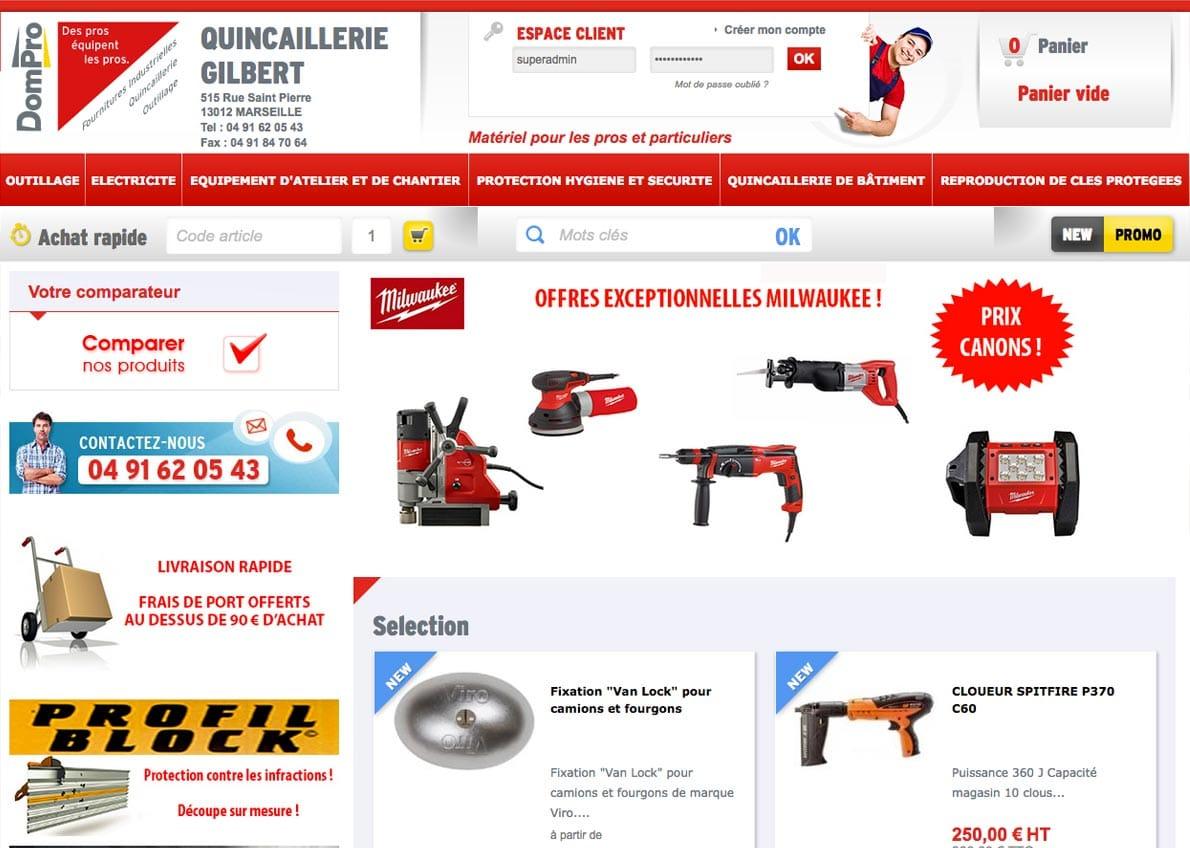 exemple de création de site web prestashop gilbert