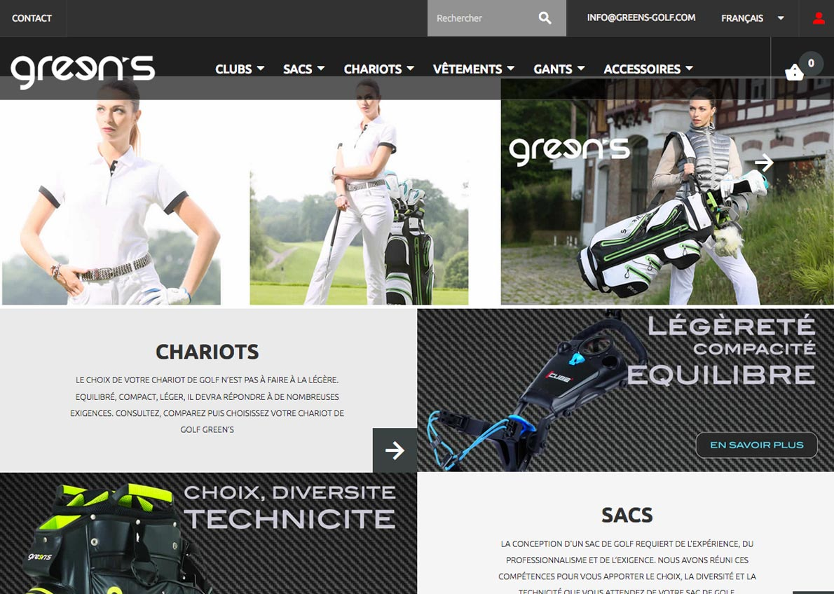 exemple de création de site web prestashop greens
