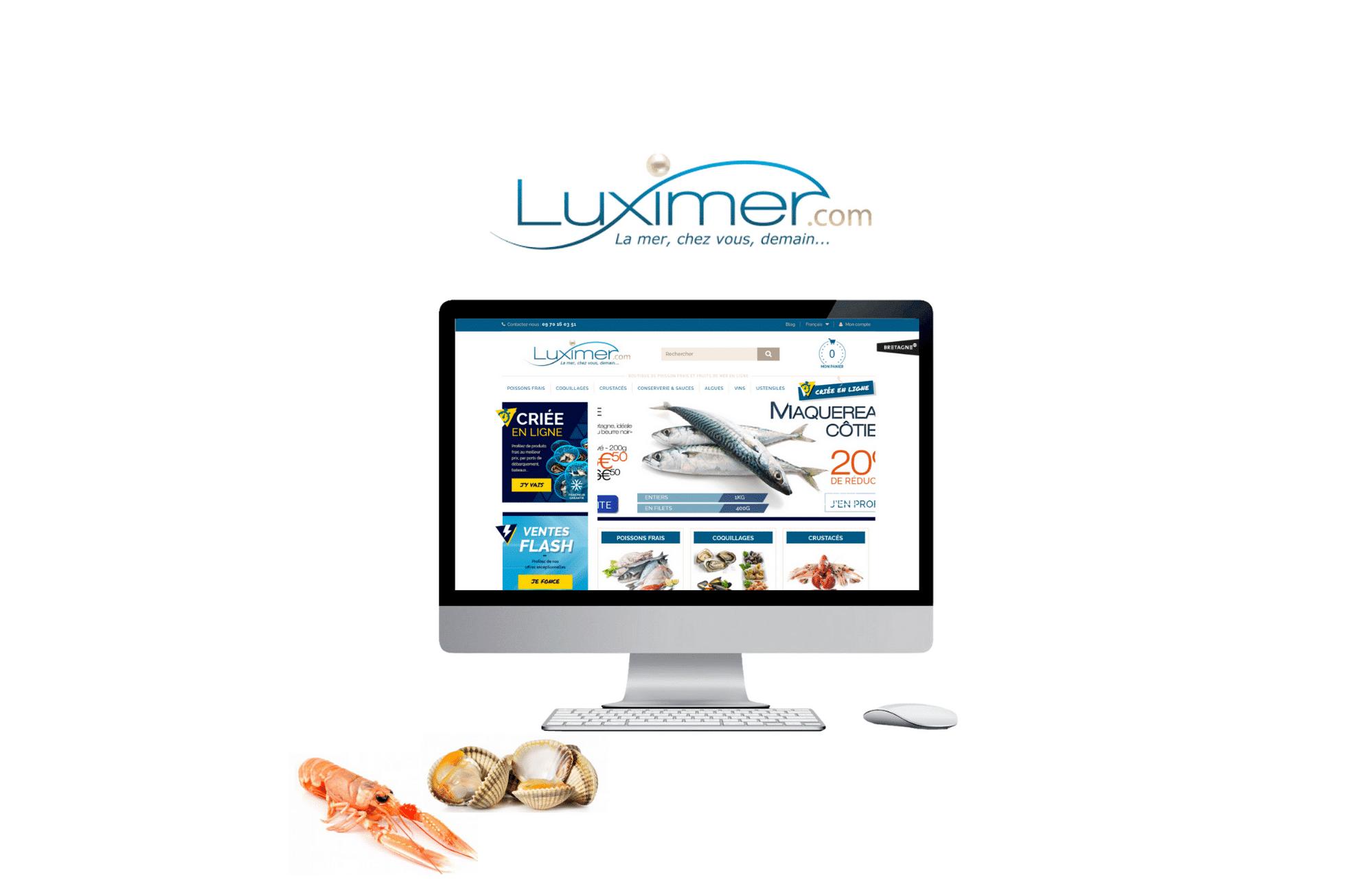 développement site e-commerce Luximer à rennes