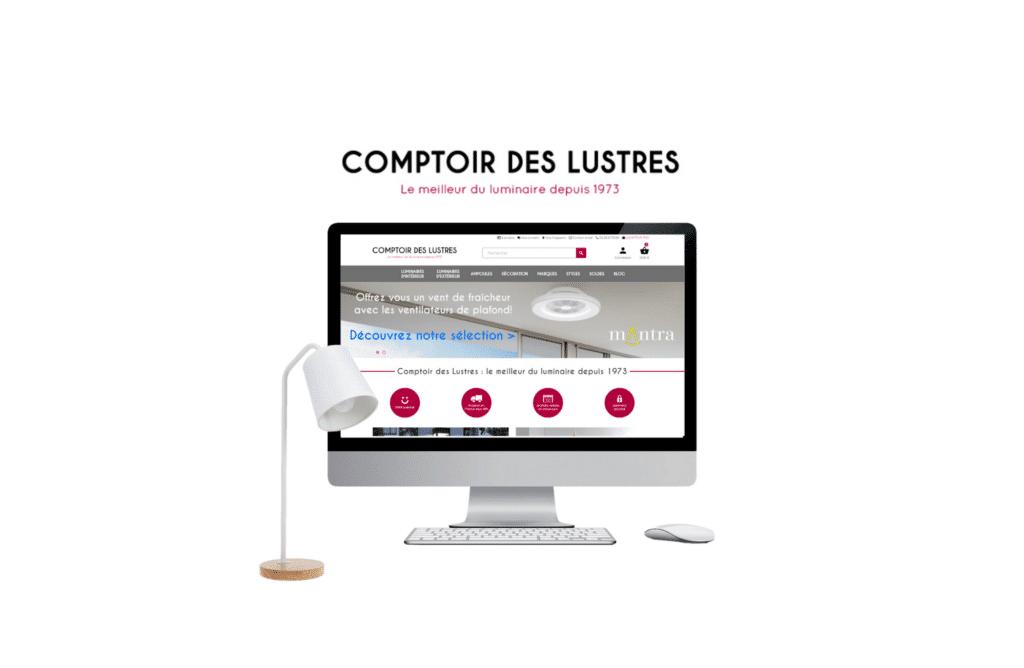 site e-commerce prestashop Comptoir des Lustres à vannes