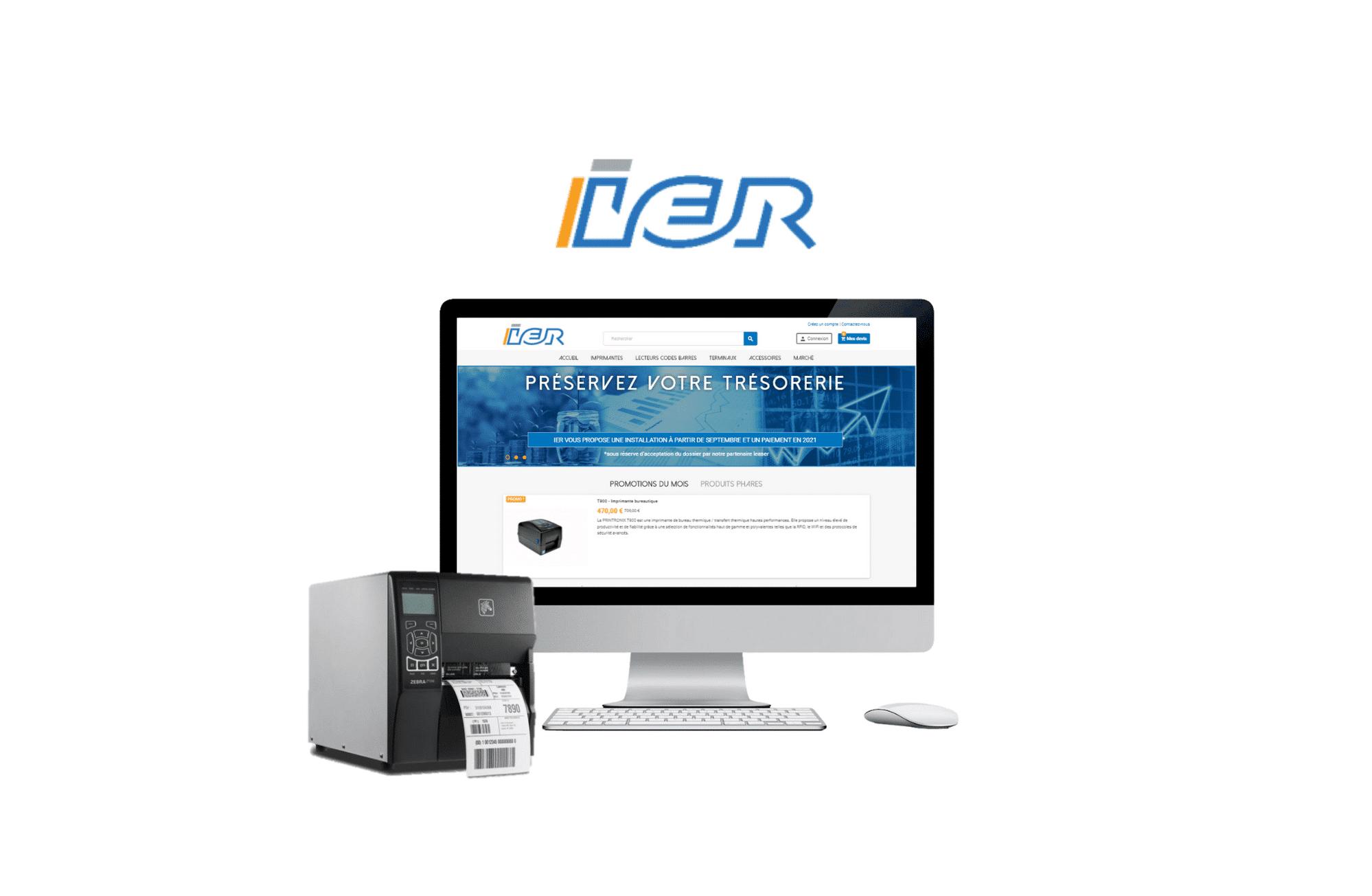 création de site web prestashop IER - Bollore à nantes