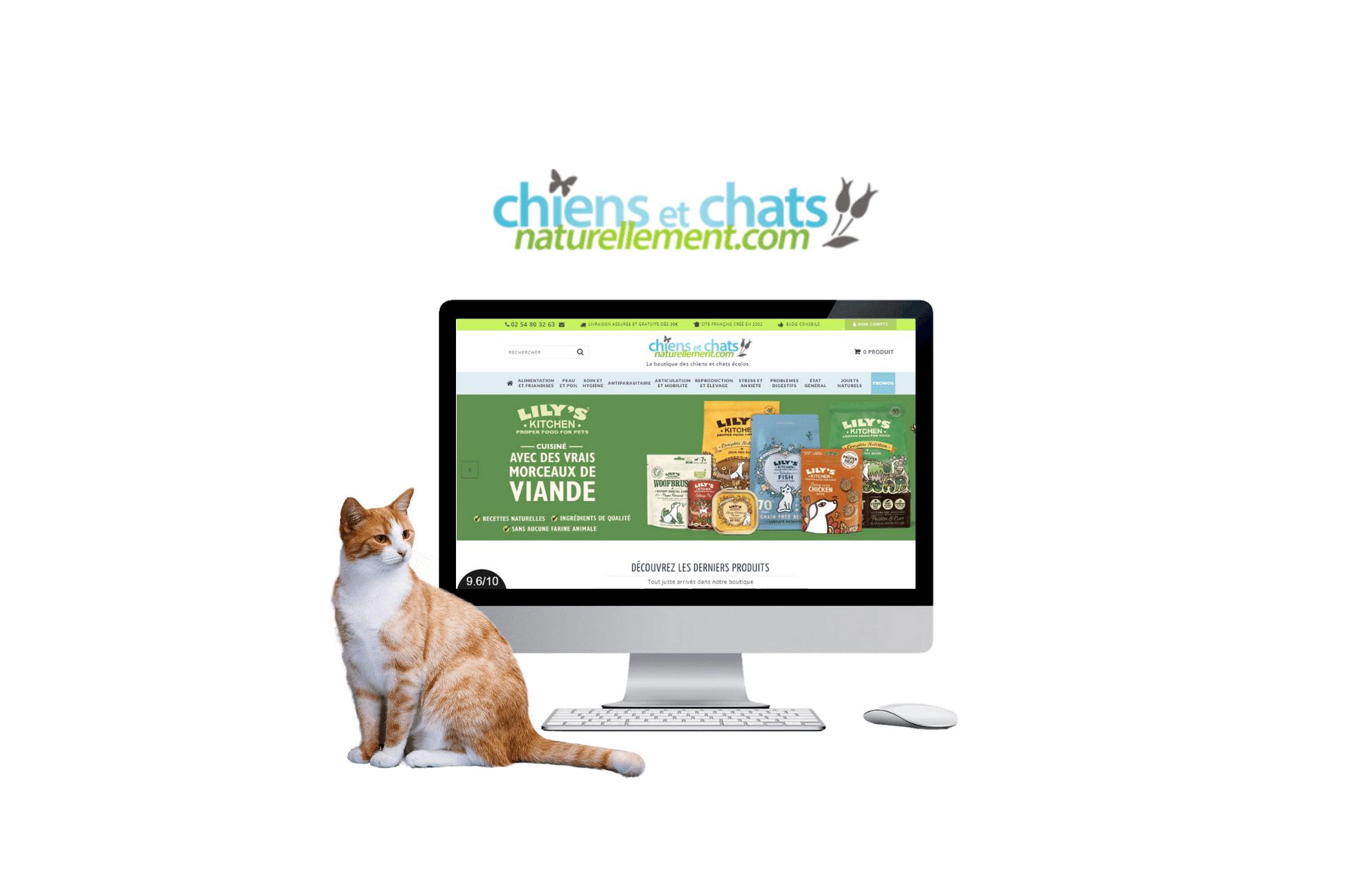 site web b to b prestashop Chiens et Chats Naturellement à lorient