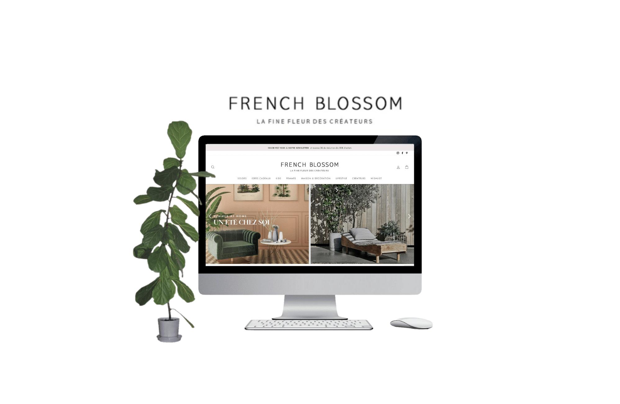 site e-commerce prestashop french blossom