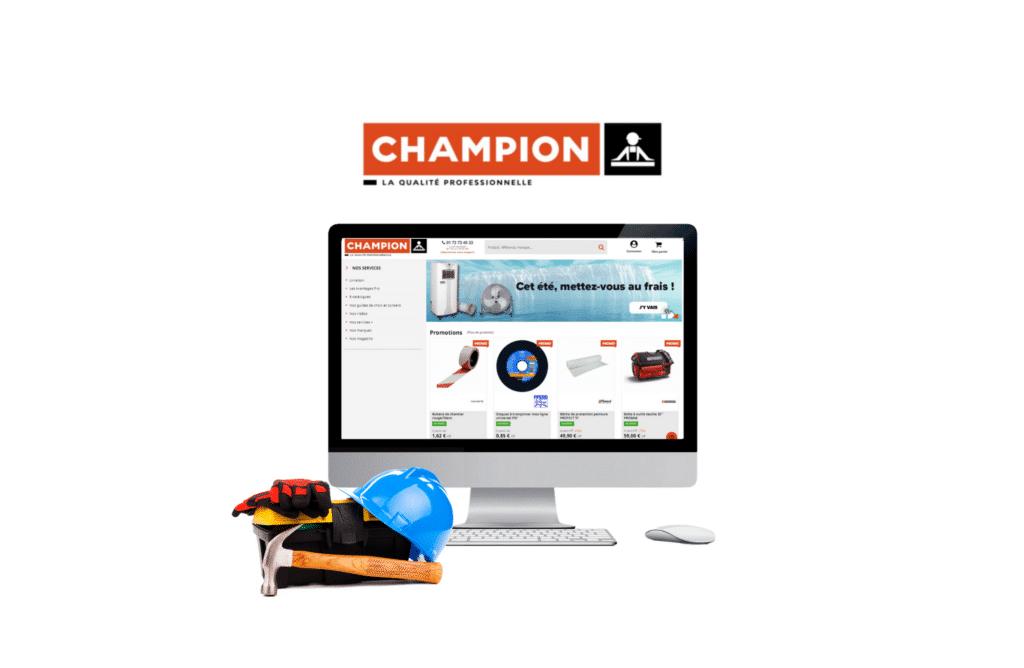 développement site e-commerce prestashop Cofaq - Champion Direct à vannes