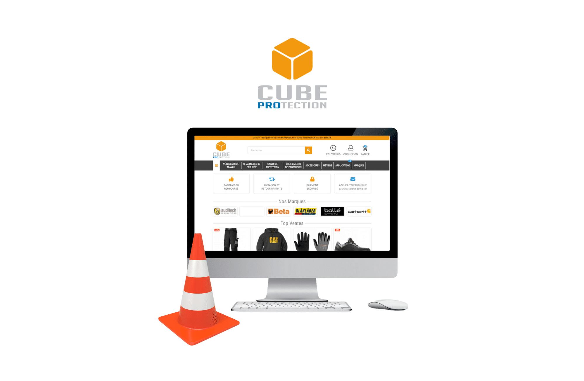 développement site e-commerce prestashop CUBE Protection