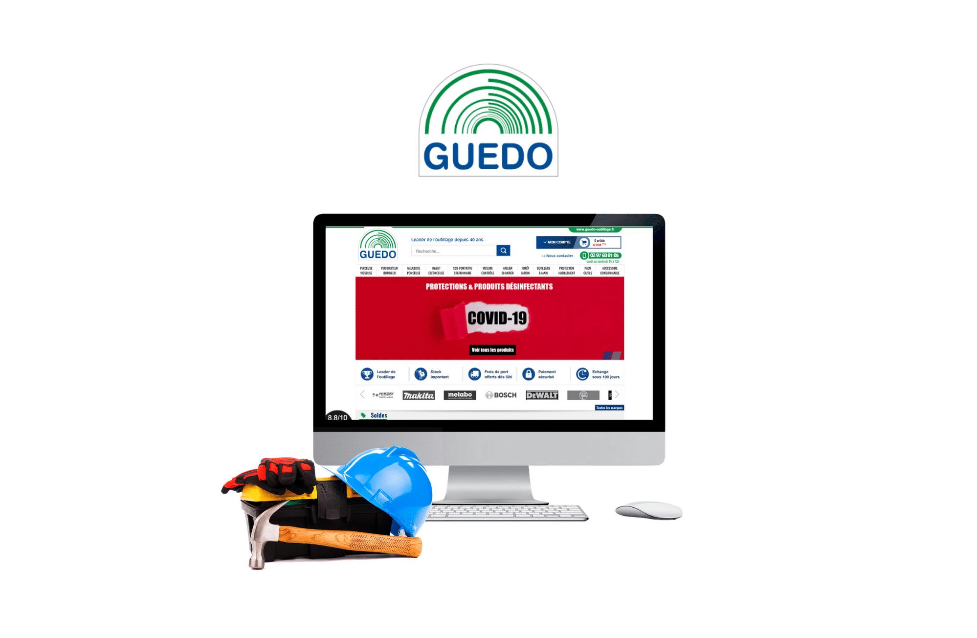 développement site web prestashop Guedo Outillage à nantes