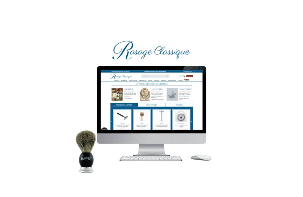 refonte de site web b to b Rasage Classique