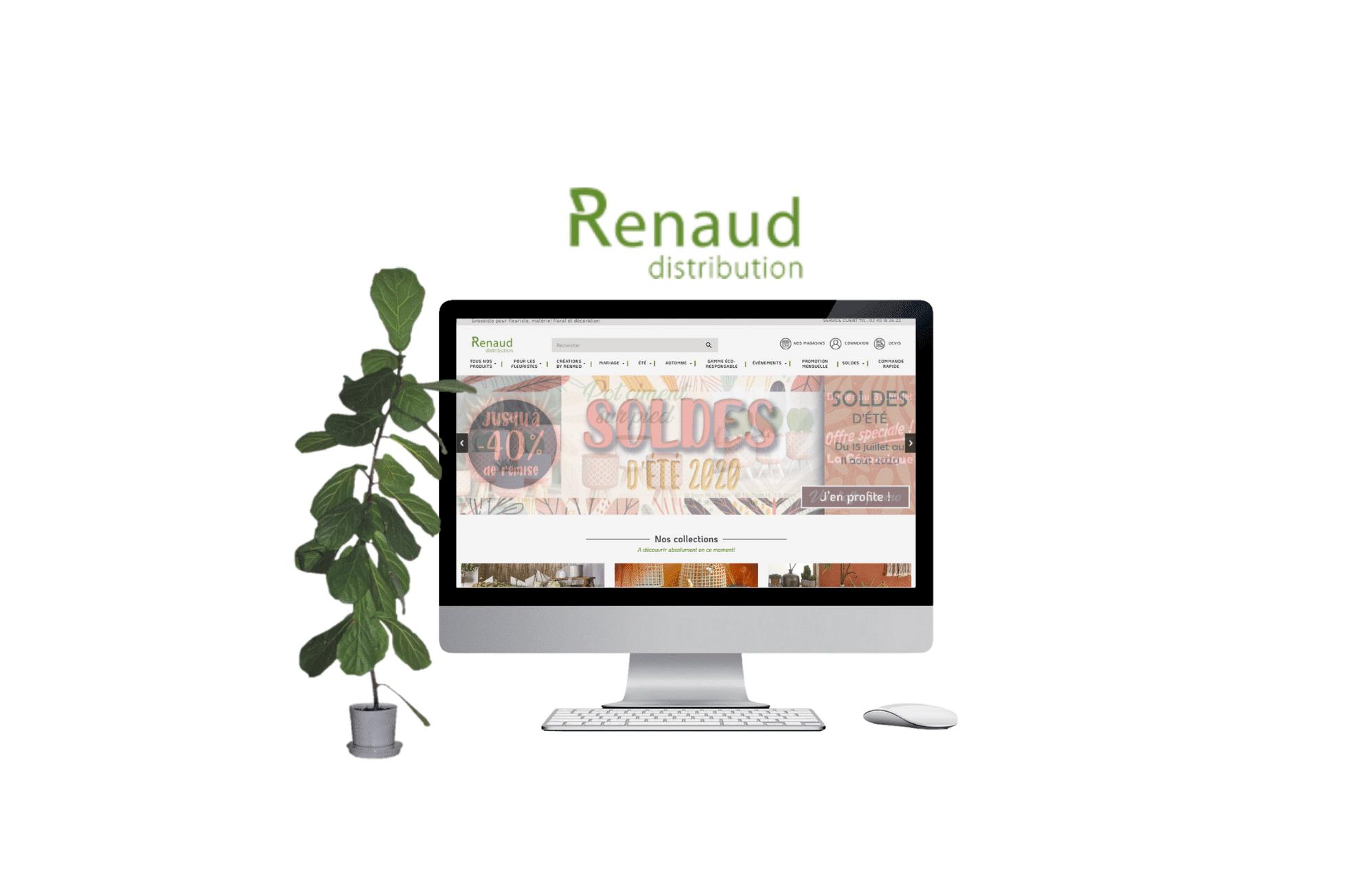 refonte de site internet prestashop Renaud Distribution - interflora