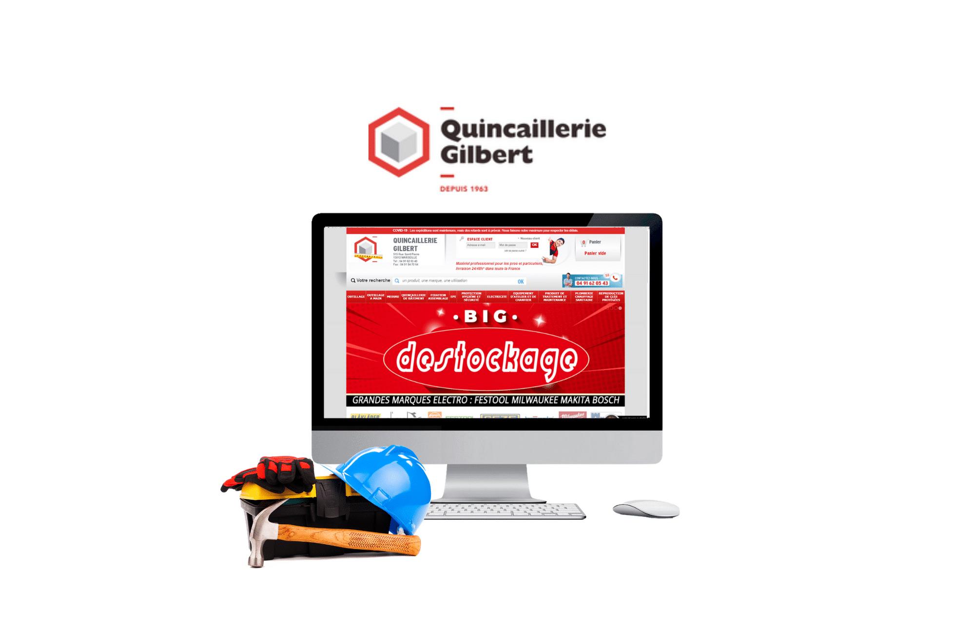 création de site btob dompro quincaillerie