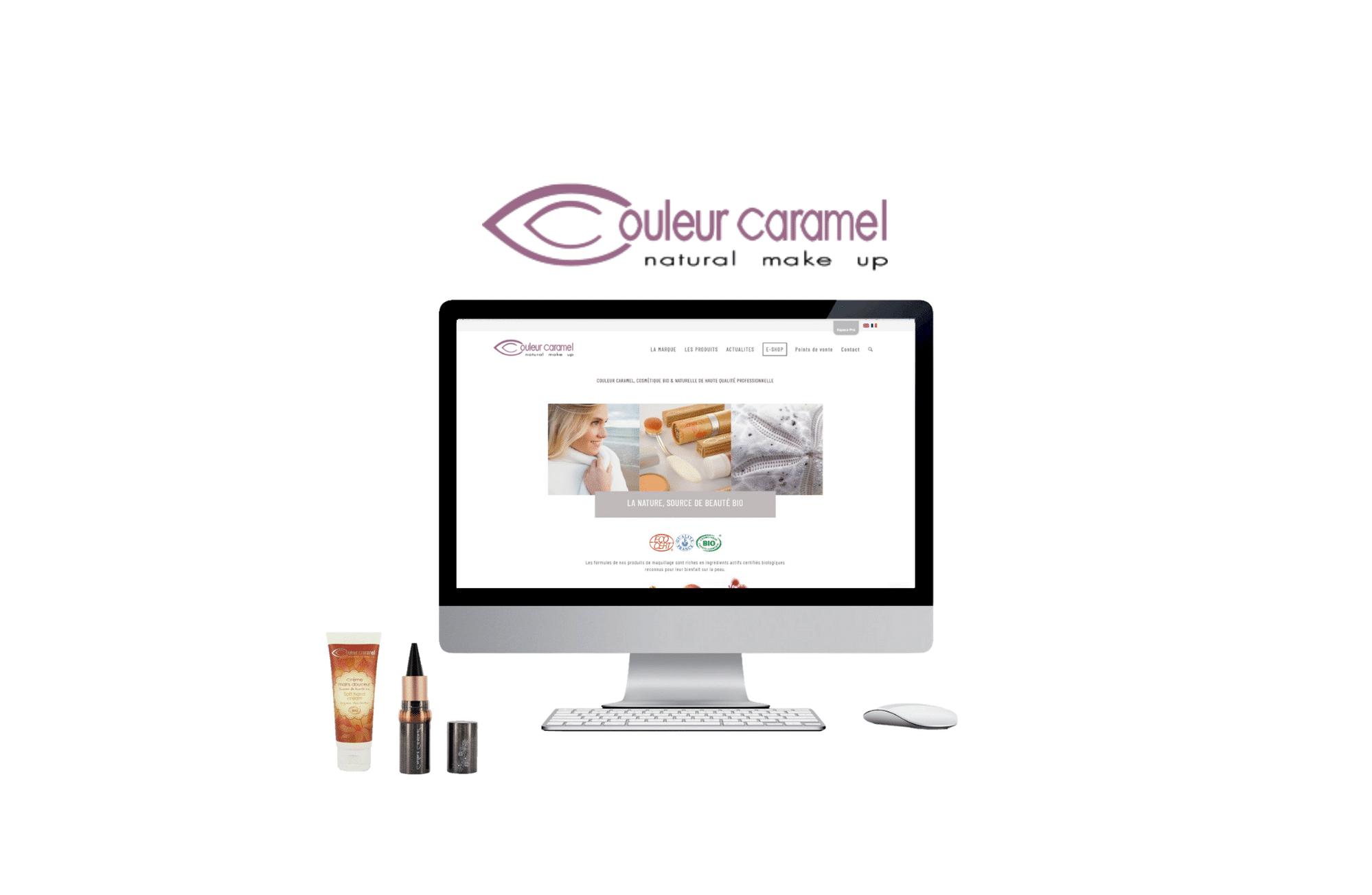 création de site b to b couleur caramel thalgo