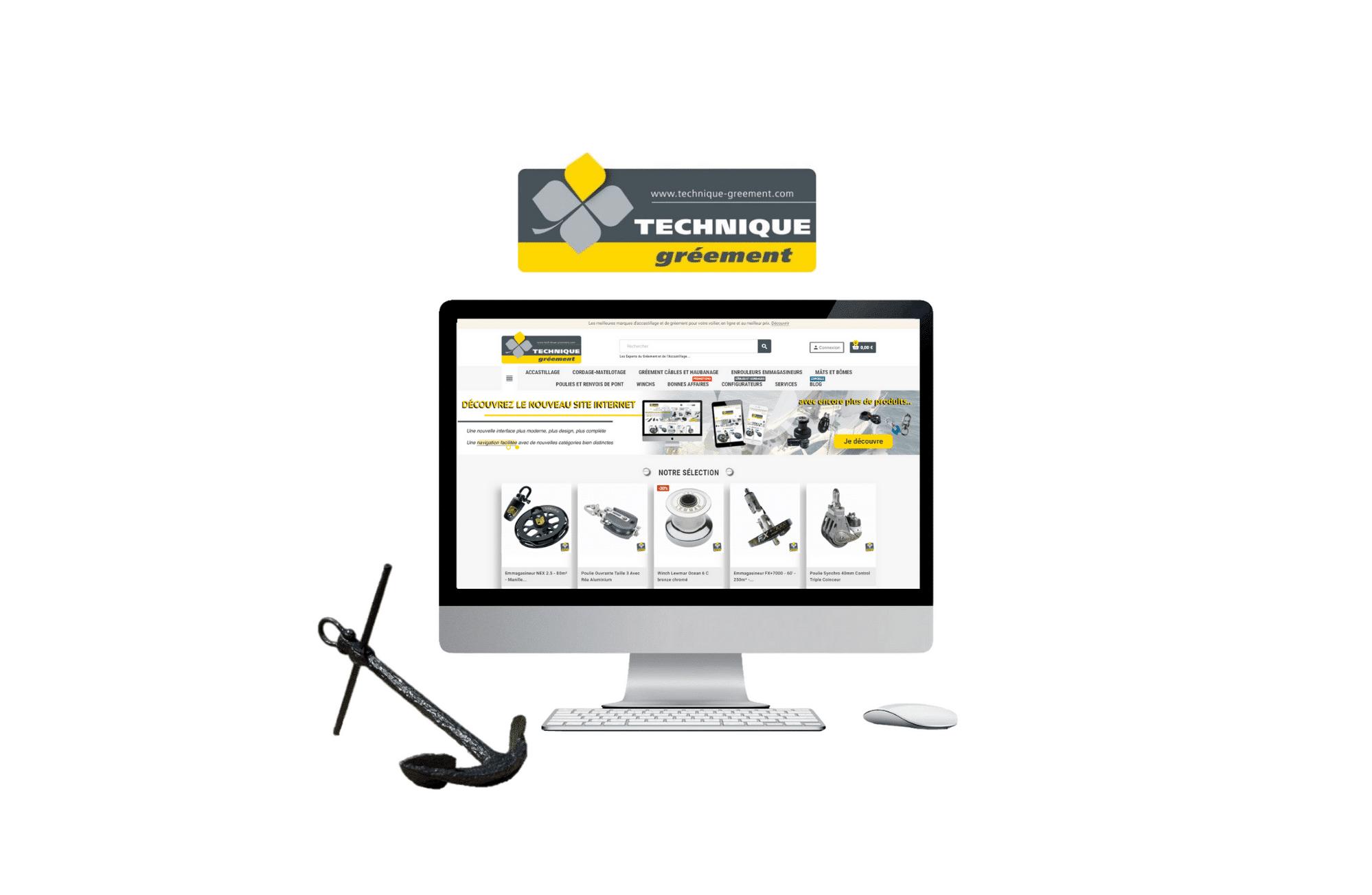 Création de site web technique gréement