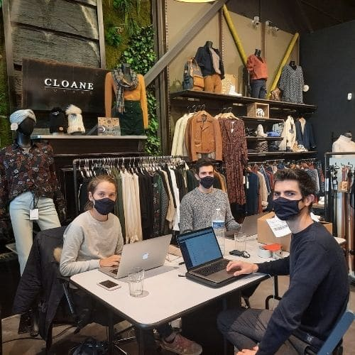 dirigeants cloane square ecommerce dans leur boutique