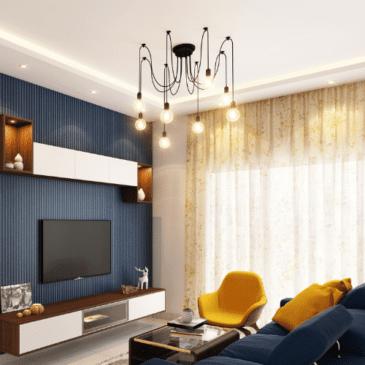 luminaire suspension dans salon
