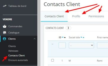 contacts client bo
