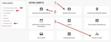 Contacts client illust