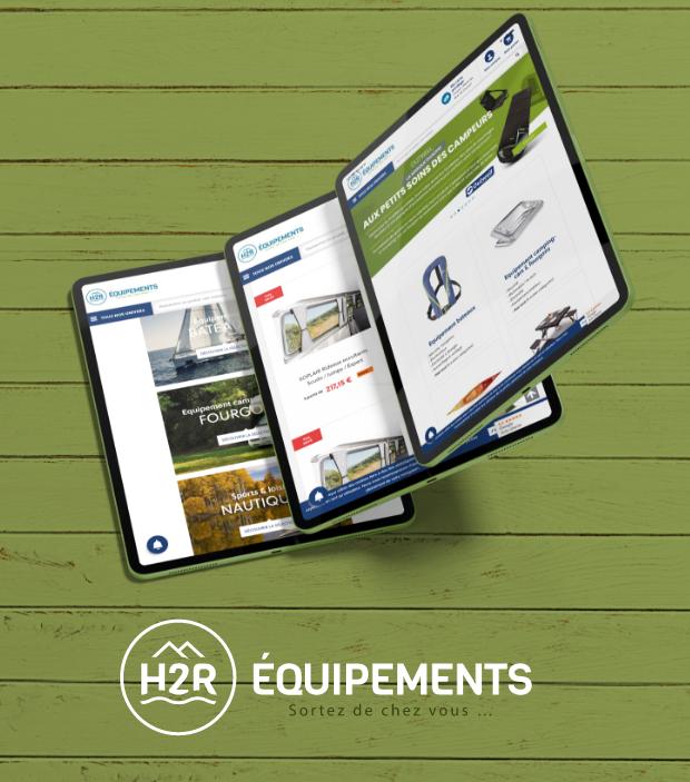 mockup site web H2R equipements