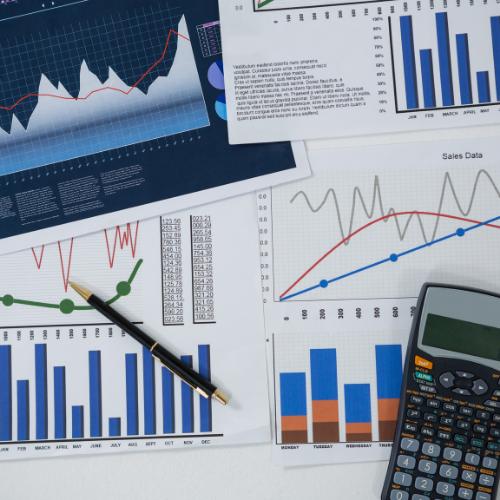 graphique calculatrice analyse chiffres-clés